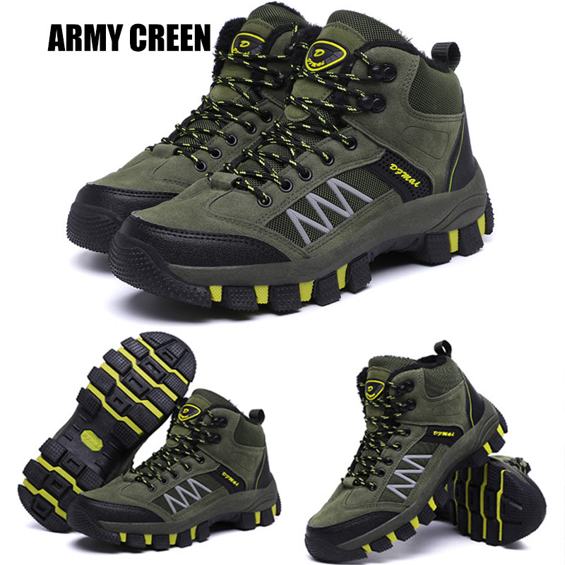 Men Winter Shoes Snow Boots Outdoor Hiking Shoes Keep Warm Casual High Top Boots Best Sale-WT image