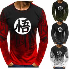 Anime Dragon Ball Men Gradient O neck pullover Goku O-Neck Sweatshirt Casual Hip Hop Harajuku Tracksuit Hoodies EB(China)