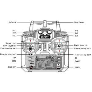Image 5 - فلاي سكاي FS i6X FS I6X 10CH 2.4G RC الارسال تحكم مع iA10B iA6B A8S X6B استقبال ل RC هليكوبتر متعددة الدوار بدون طيار