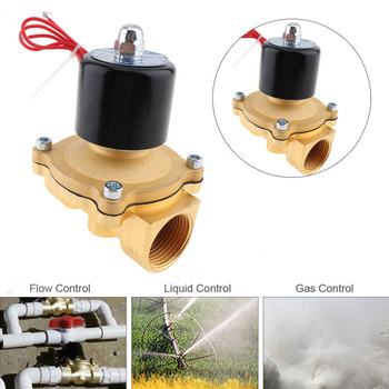1'' Water Solenoid Valve 12/24V 110/220V Electric Solenoid Valve Normally Closed Type Aluminum Alloy Water Valve Solenoid Valves цена 2017