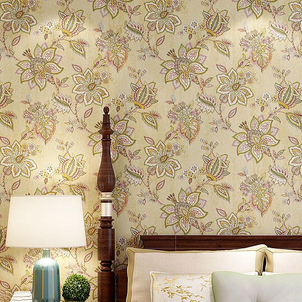 Деревенская Цветущая цветочная роспись шаблон стикер на стену для гостиной спальни кухни украшения дома