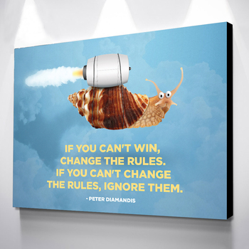 Wall Art HD Printed Snails Pictures Canvas Letter Home Decor Aphorisms Modular Nordic Painting No Frame Cuadros For Living Room image