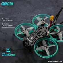 Geprc cineking 4 k 95mm 2 4 s caddx tarsier câmera 1103 1105 motor sem escova f4 12a controlador de vôo fpv diy racing drone