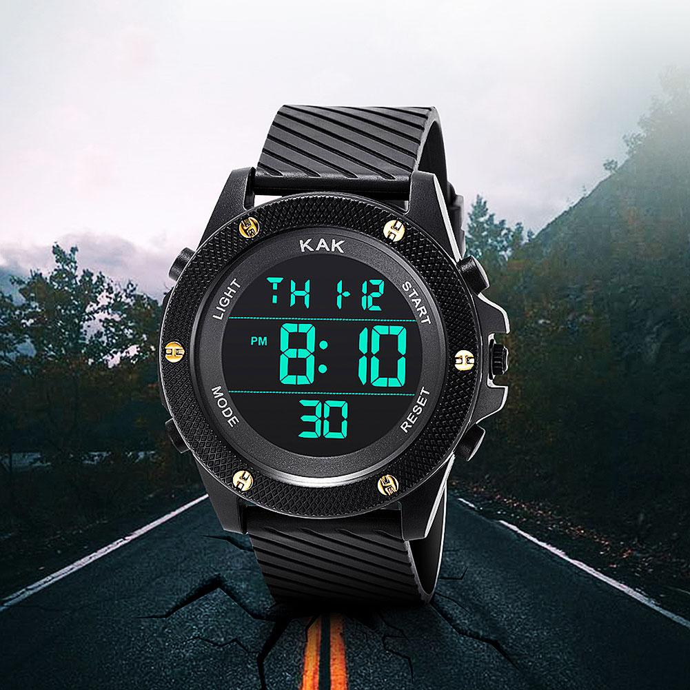 Simple Top Brand KAK Luxury Sports Digital Watch Men Female Military Army LED Waterproof Analog Wrist Watch Unisex Couple Watch