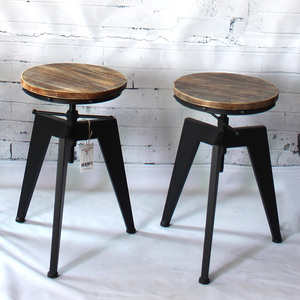 iKayaa Bar Chair Bar Furniture Stool Natural Pine Wood Top Swivel Kitchen Dining Sitting Chair Height Adjustable Chairs