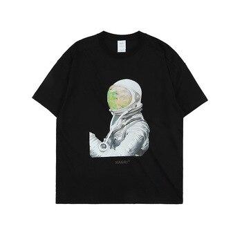 Ursprüngliche Neue Stil Sommer Europa Und Amerika Beliebte Marke Interstellare NASA Astronaut Lose-Fit kurzarm Baumwolle T-shirt M