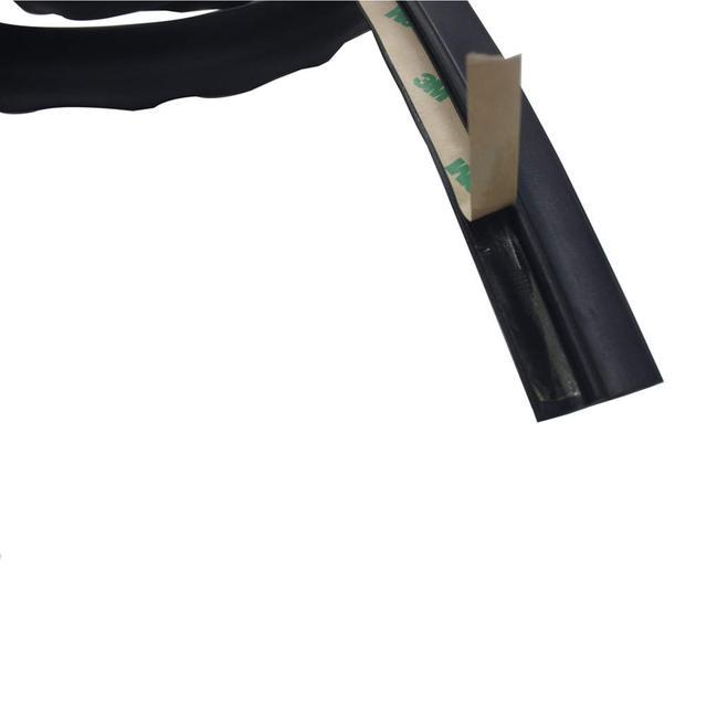 Tira de sellado de flujo de techo para Jeep Wrangler JK JL 2007-2019, resistente al agua, resistente al polvo, Reduce el ruido, resistente al sol, tira de silicona duradera