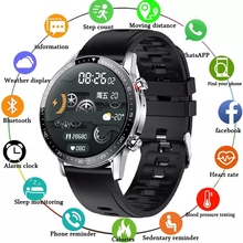 LIGE New Men Smart watch Heart rate Blood pressure Sports Fitness watch IP68 waterproof Luxury smart watch Male For iOS Android