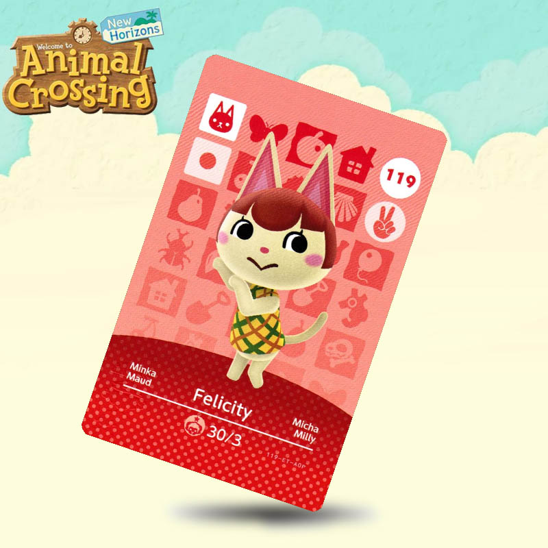 119 Felicity Animal Crossing Card Amiibo Cards Work For Switch NS 3DS Games