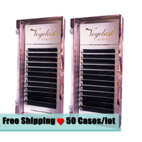 Veyelash Free Shipping 50 Cases C D Curl Individual Eyelashes Faux Mink Eyelash Extension For Russian Volume Eyelashes