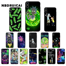 NBDRUICAI Cartoon Rick And Morty On Sale! High Quality Phone Case for iPhone 11 pro XS MAX 8 7 6 6S Plus X 5 5S SE XR case(China)