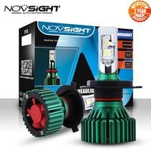 NOVSIGHT مصابيح أمامية للسيارة LED ، 60W 16000LM H4/HB2/9003 ، مصابيح ضباب ، شعاع مزدوج ، تشغيل وقابس ، 6500K D45
