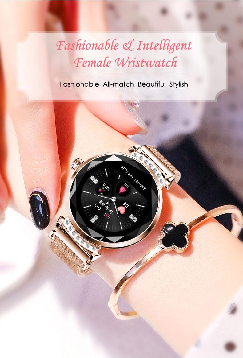 Johox-relógio inteligente mulher homem rastreador de fitness