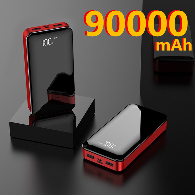 Phone Power Bank 90000mAh USB Type C 50000mAh Powerbank External Battery Charger Poverbank For iPhone 11 For Xiaomi 6