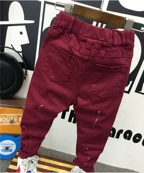 fashion baby clothing 2-7years baby boys soft jeans trousers Kids jeans blue casual pants spring autumn trousers denim 6