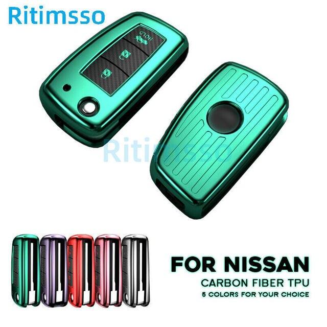 TPU Fits Perfect Flip Car key wallet cover case 3 BTN For Nissan J11 X Trail Juke Qashqai Micra Pulsar 2014 2015 2016 2017 2018|Key Case for Car|   -