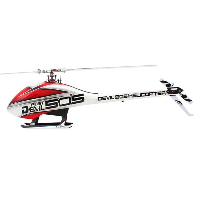 Alzrc 505 helicóptero diabo 505 jogo rápido do fbi com hélice e capô