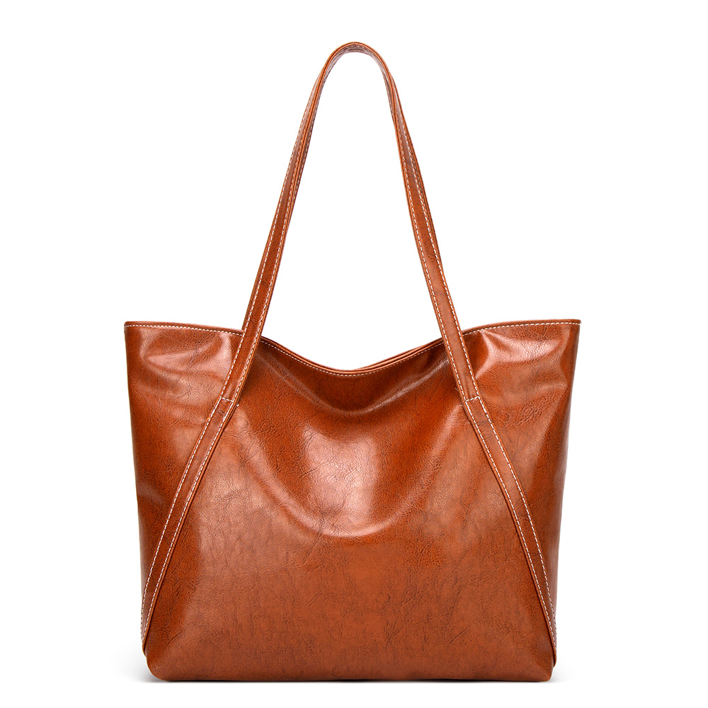 Tote bag with fashion handle Orange color