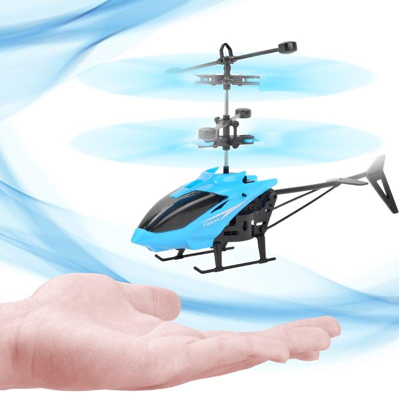 Mini RC Drone hélicoptère infrarouge Induction 2 canaux électronique drôle Suspension Dron avion quadrirotor petit drohne enfants jouets 1