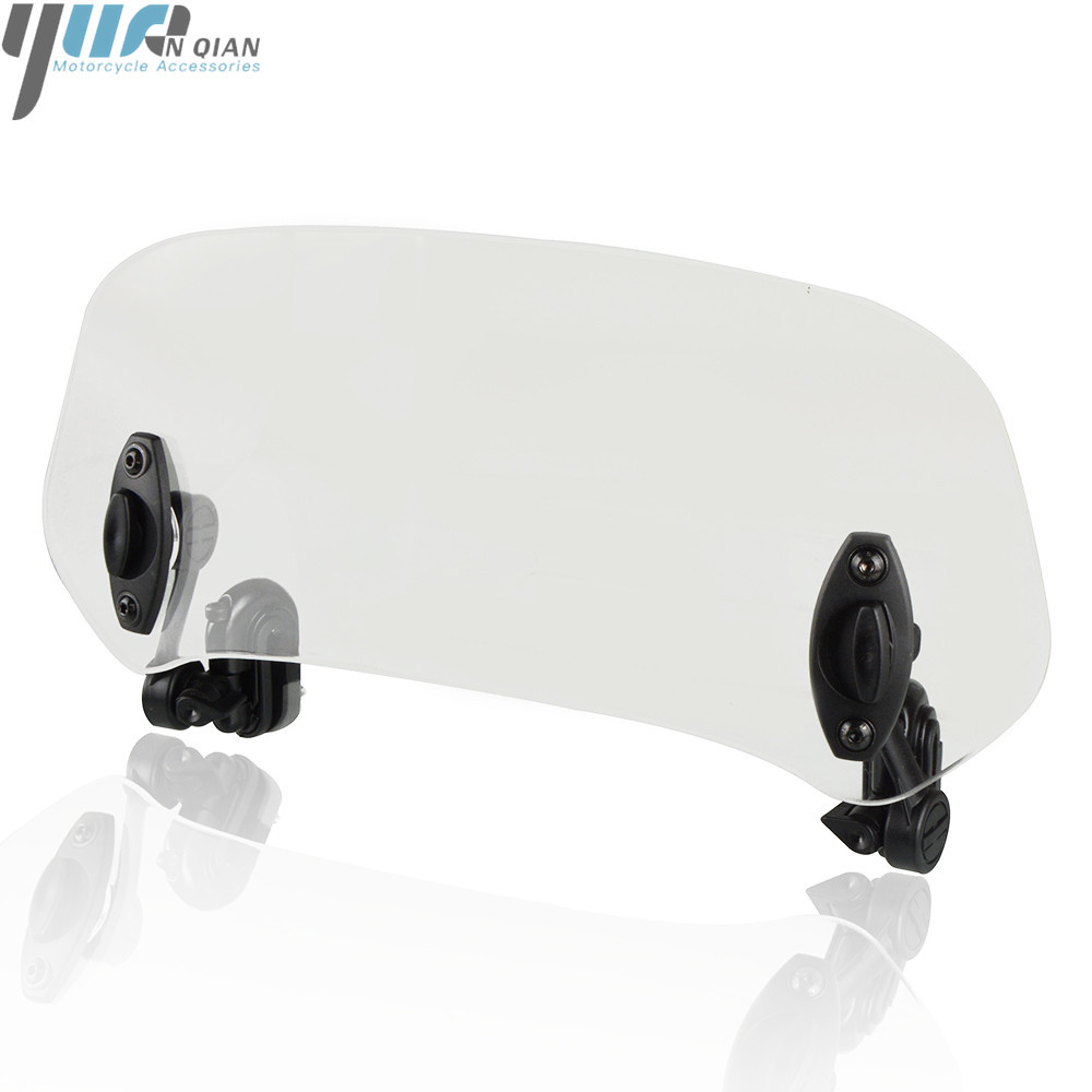Motorcycle Adjustable Clip On Windshield Extension Spoiler Windscreen Air <font><b>Deflector</b></font> For Honda CB500F ABS CB300F <font><b>NC750X</b></font> MT CB500X image