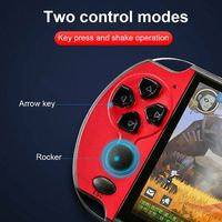 1 5 lcd X7 Plus 5.1 Inch LCD Screen Game Machine Double Rocker Handheld Retro Video Game Console with 10000 Games Gaming Accessories (4)