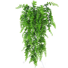 85cm 5 Forks Artificial Plastic Persian Fern Tree Leaves Plastic Green Simulation Plant Fake Leaves Rattan Home Decoration(China)