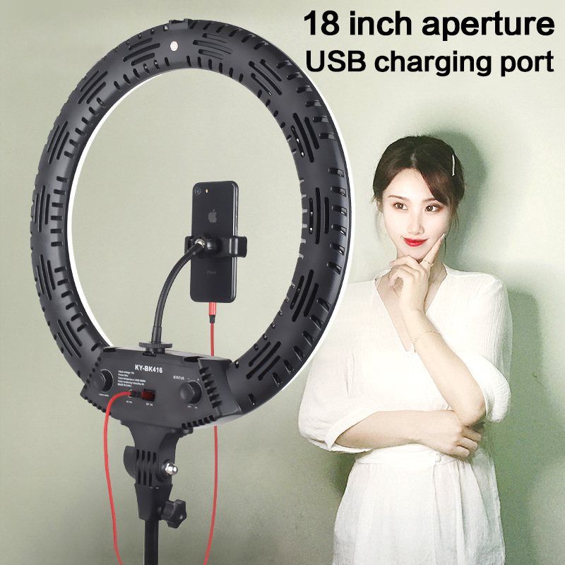 Photography Lighting Ring-Lamp Tripod Makeup Video-Youtube 18inch LED 3200-5600K 416pcs title=