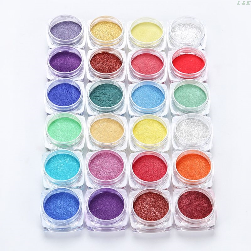 12 Colors Mica Powder Epoxy Resin Dye Pearl Pigment Natural Mica Mineral Powder PXPC