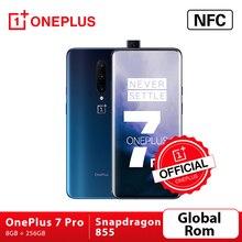 Magazzino Globale Rom OnePlus 7 Pro Smartphone 48MP Telecamere Snapdragon 855 Octa Core Da 6.67 Pollici 2K + Fluido AMOLED di Sblocco dello schermo UFS 3.0