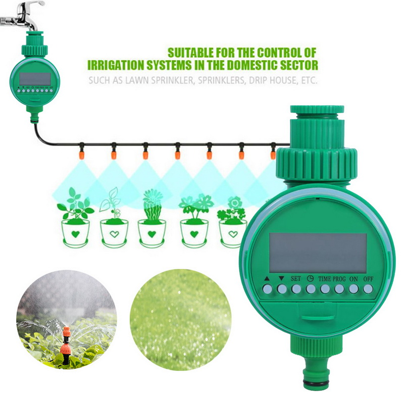 Automatic Digital LCD Electronic Home Water Timer Garden Irrigation Controller Programs Irrigation Timer Watering System