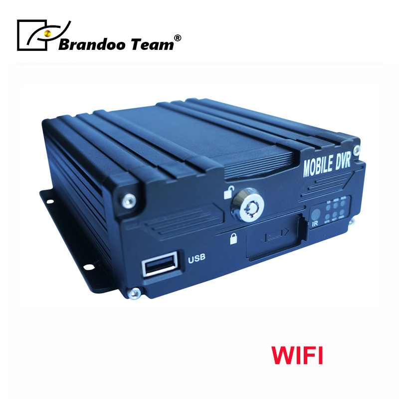 4G WIFI AHD <font><b>MDVR</b></font> factory direct <font><b>4channel</b></font> SD DVR truck vehicle record mobile DVR 4ch English/ Russian menu image