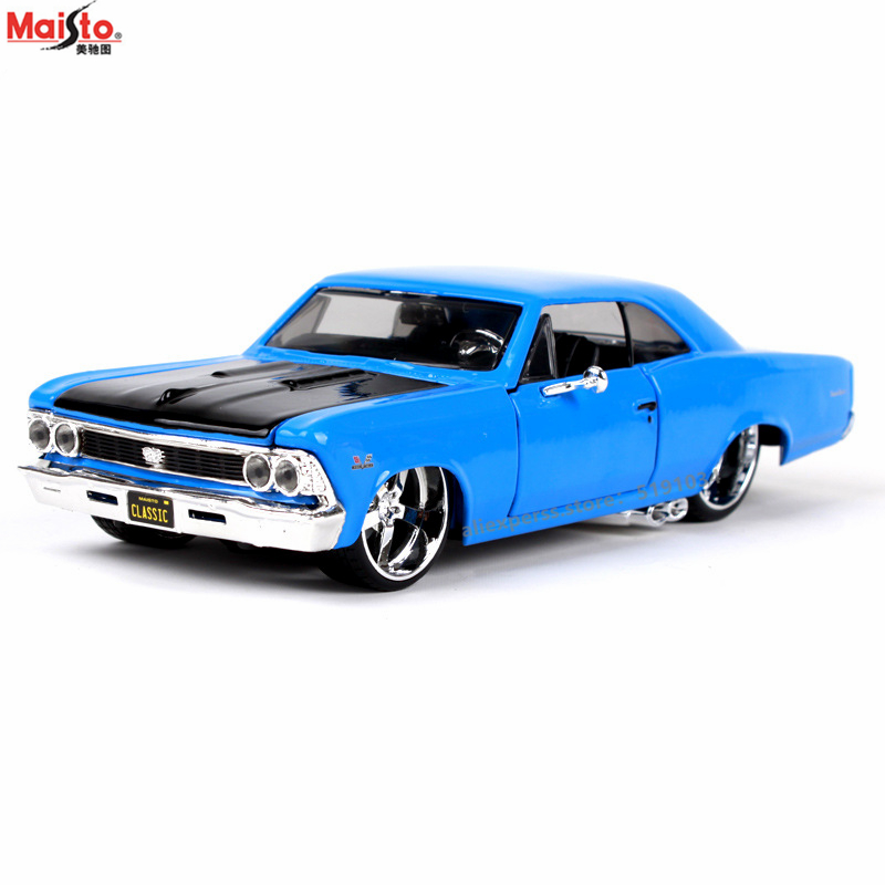 Maisto 1:24 1966 Chevrolet SS Convertible Alloy Car Model Simulation Car Decoration Collection Gift Toy
