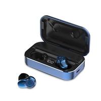 A6 TWS słuchawki Bluetooth fones de ouvido bluetooth materiał metaliczny bezprzewodowe słuchawki sportowe słuchawki douszne basowe manos libres bluetooth w Słuchawki douszne i nauszne Bluetooth od Elektronika użytkowa na