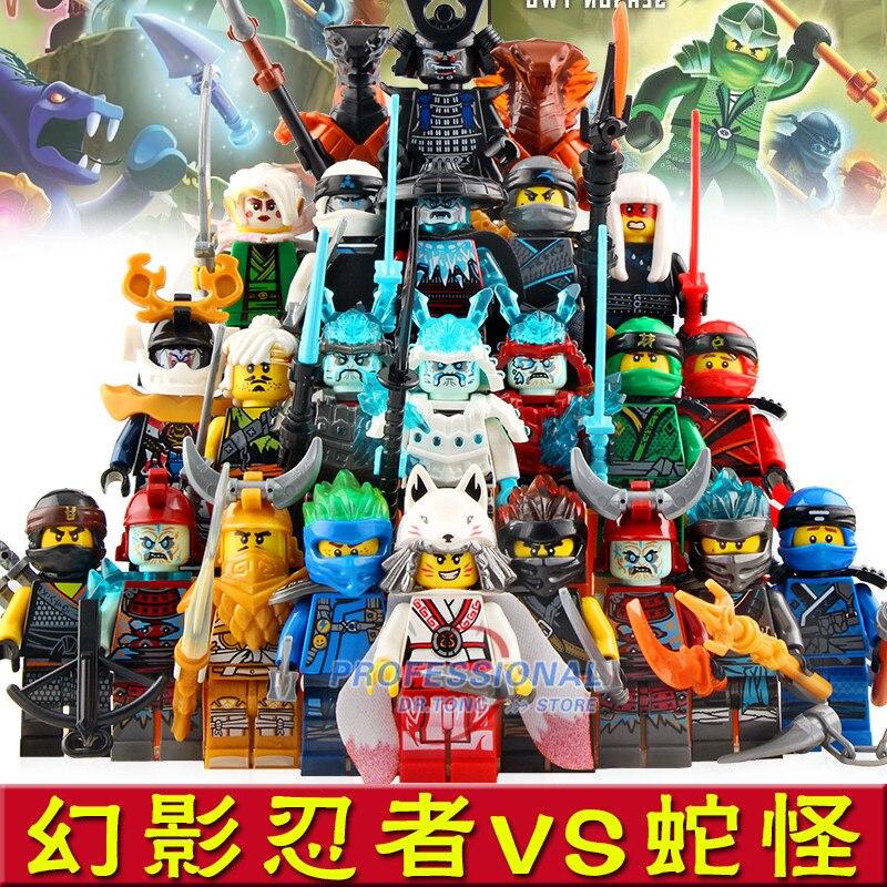 24 pièces nouvelles figurines Ninja NINJA guerrier glace empereur héros Kai Jay Cole Zane Nya Lloyd jouets pour enfants cadeaux DG1002