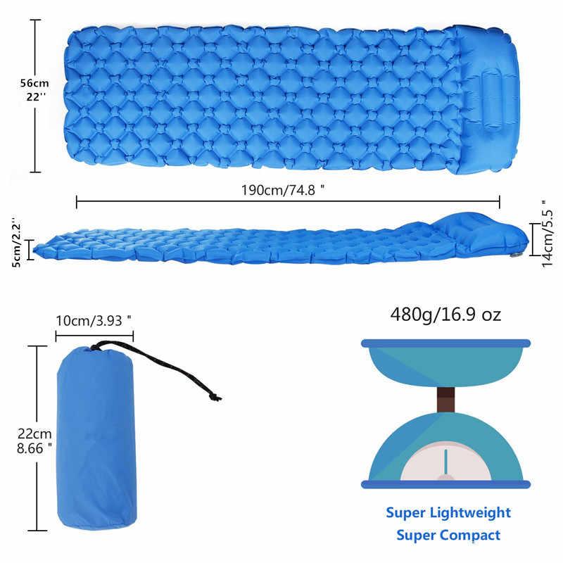 Nadmuchiwana poduszka do spania z nadmuchiwaną torbą nadmuchiwana poduszka powietrzna mata kempingowa z poduszką materac powietrzny do spania nadmuchiwana Sofa