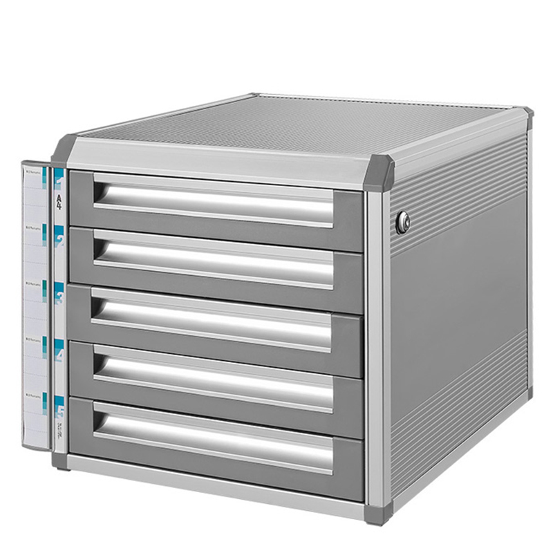 Aluminum alloy drawer-type data filing cabinet office small file cabinet multi-storey three-storey/four-storey/five-storey