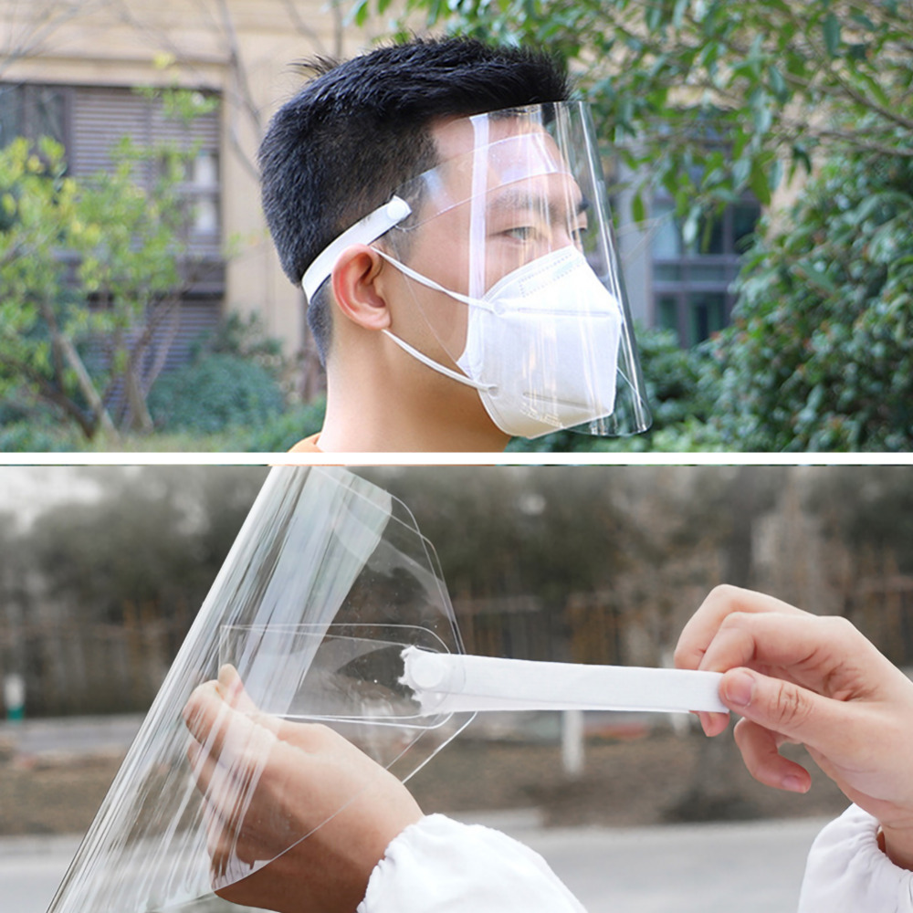 1Pc Clear Face Cover and Transparent Face Shield for Full Face and Eye Protection 8