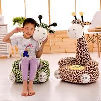 Детское плюшевое кресло, обучающееся сидению, мягкое сиденье для игры, милый жираф, детский чехол для дивана, обучающий сидению, чехол для ст...