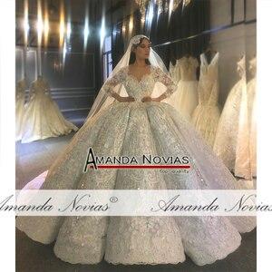 Image 5 - Amanda Novias design echt arbeit hochzeit kleid 2020 dubai luxus braut kleid hochzeit kleid 100% echt arbeit fotos
