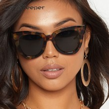 LongKeeper Sexy Damen Cat Eye Sonnenbrille Frauen Vintage Marke Blau Sonnenbrille Für Weibliche Leopard Gläser UV400 oculos feminino