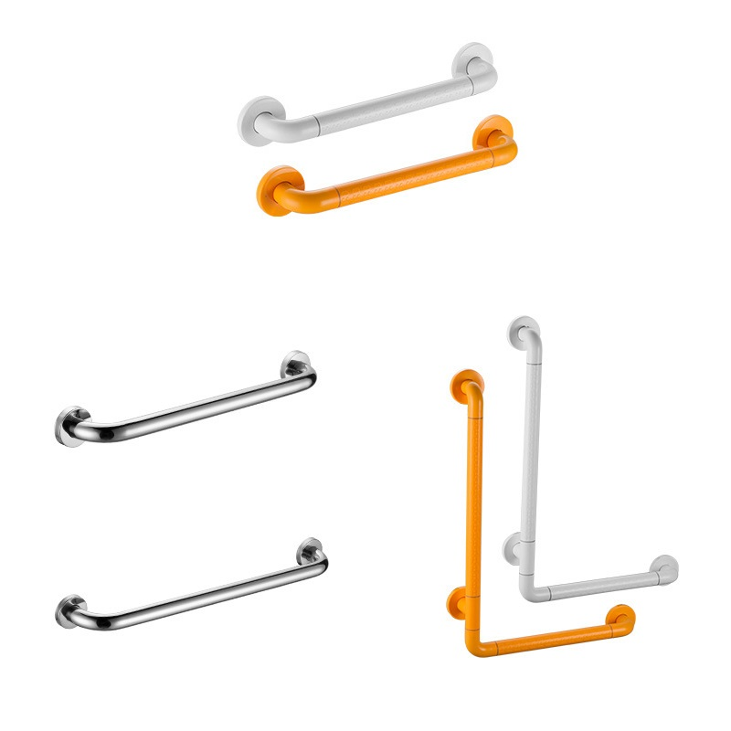SUS 304 Stainless Steel Bathroom Toilet Handrail Grab Bar Shower Room Safety Support Handle Towel Rack Safety Handle Shower Bar
