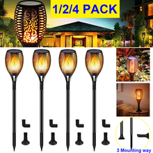 1/2/4 PACK Solar Flame Flickering Lamp IP65 Waterproof  Garden Pathway Patio Yard Decoration Outdoor Landscape Light D20 digoo dg fle01 solar garden decoration led flame lamp landscape automatic waterproof atmosphere light for patio yard path light