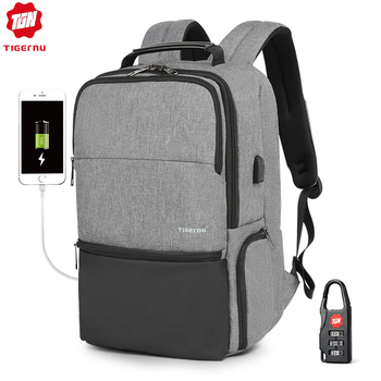 "Tigernu New Arrival Large Capacity Travel 15.6""19"" Anti theft Laptop Backpacks Women Waterproof Fashion With USB Charge Port"