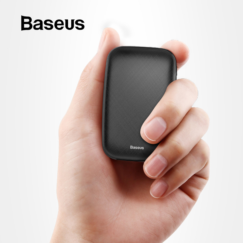 Baseus Mini Power Bank 10000mAh For iPhone X Xs Max Portable External Battery Pack Powerbank For Samsung S9 S8 Note9 Xiaomi MI 9 Весы