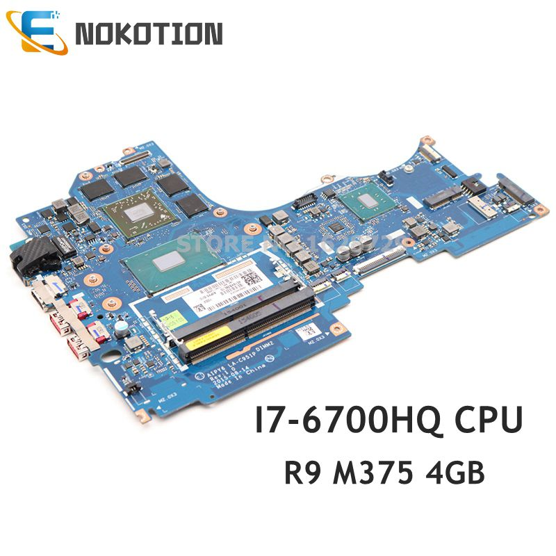 NOKOTION FRU 5B20M55518 AIPY6 LA-C951P For <font><b>Lenovo</b></font> ideapad <font><b>Y700</b></font>-14ISK <font><b>Laptop</b></font> Motherboard I7-6700HQ CPU R9 M375 4GB GDDR3 image