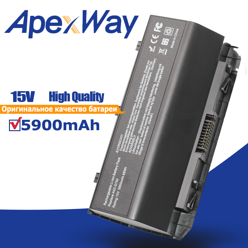 ApexWay 15V 88Wh A42-g750 Laptop Battery For Asus G750J G750JH G750JM G750JS G750JW G750JX G750JZ CFX70 CFX70J