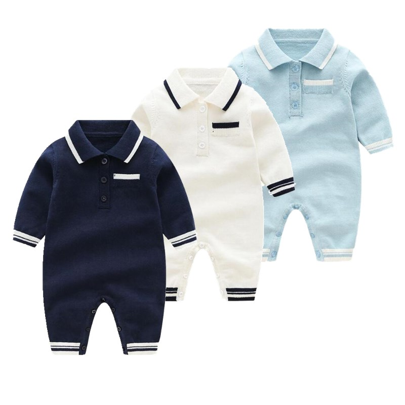 Orangemom Offical Store Newborn Winter baby knitwear Jumpsuit 3m-24m Infant Boy Girls Long Sleeved   Rompers   Cotton Baby Clothing