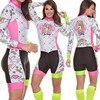 Terno de triathlon profissional, camiseta de ciclismo preta feminina, macacão, manga longa em gel, conjunto de ciclismo, 2019 13