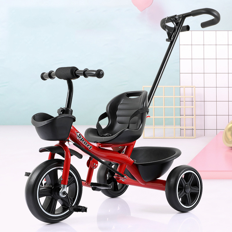 Children's Tricycle, Stroller, Toy, Baby Hand-push Bicycle, 1-3-5 Year Old Children Riding Bicycle, Holiday Gift Baby Bicycle