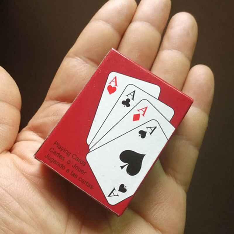 بطاقات للعب صغيرة جدا الإبداعية سوليتير لطيف الأطفال لعبة من الكارتون K4UC